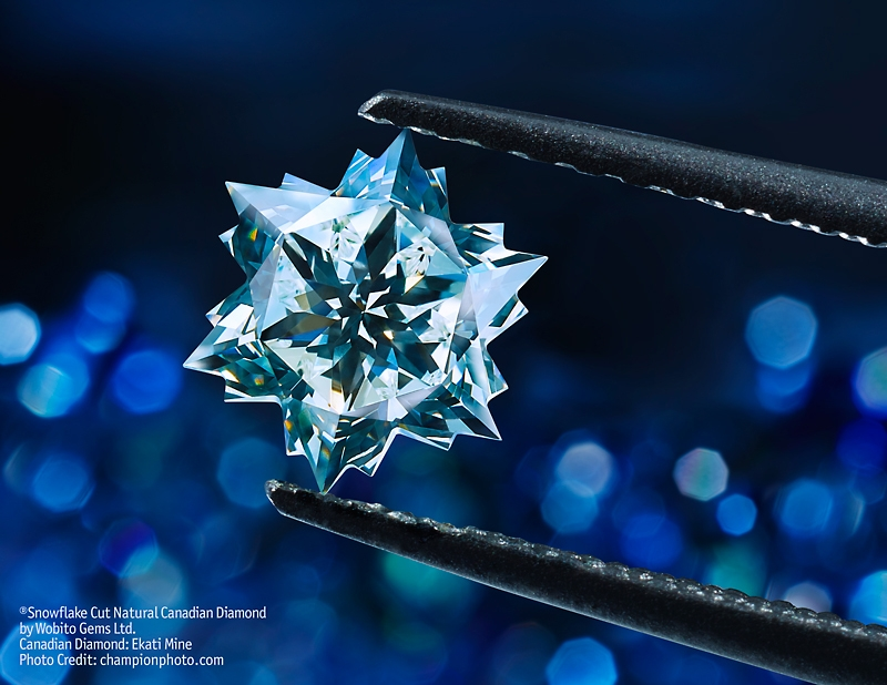 Canadian Diamond Snowflake from the Ekati mine