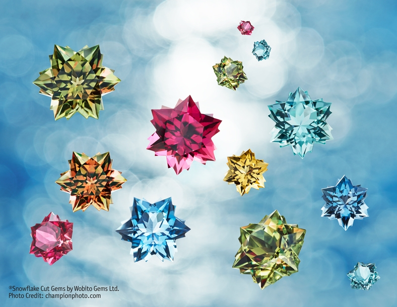 Assorted Snowflake Gems