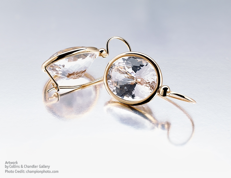 Wobito Cut Champagne Topaz. Earrings by Artwork Gallery