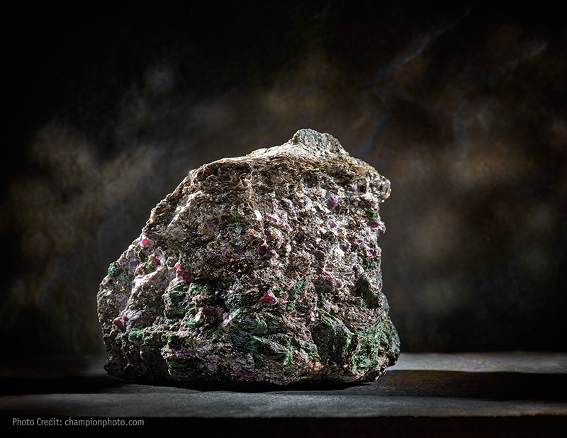 Ruby and Zoisite specimen from Greenland