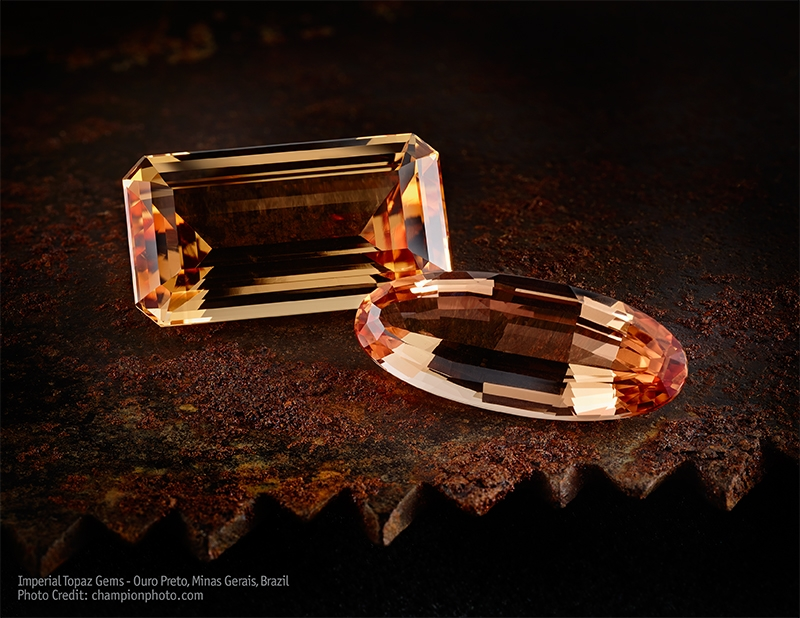 Wobito Cut Imperial Topaz from Brazil