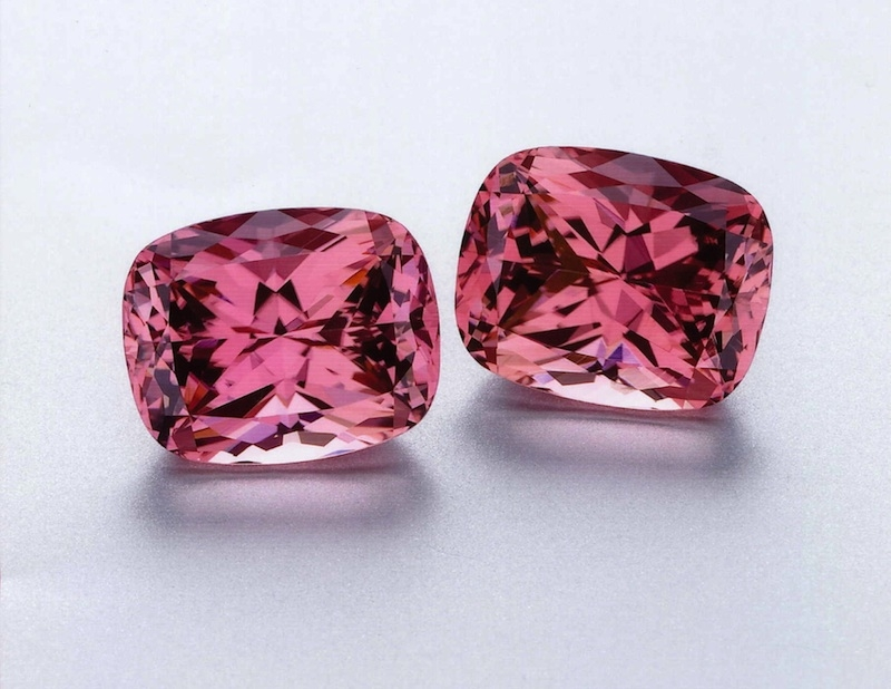 AGTA Cutting Edge Award winning pair of Pink Tourmaline Gems
